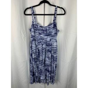 Torrid 0 Large blue tie dye midi dress beach cover